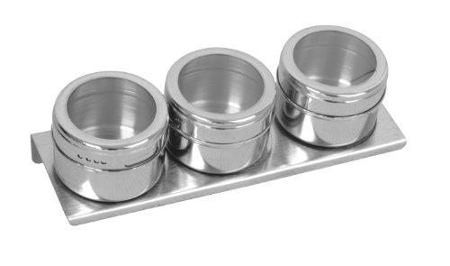 Equinox 505238 Lot 3 boîtes d'épices magnétiques en Inox Diamètre: 6 cm