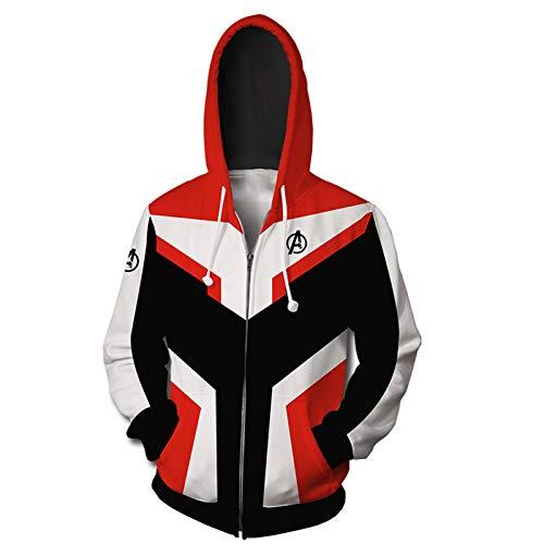 GYMAN Avengers Quantum Suit Hoodies Windproof Fleece Pullover Child Adult 3D Print Hoodies Sweatshirts Coat With Kangaroo Pocket,2-Medium