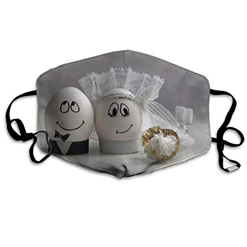 Creatieve Eieren Bruiloft Groom Bruid Smile Mood Liefde Unisex Volledige Dekking Buis Gezicht Masker Bandanas UV Bescherming Hals Gaiter Hoofdband