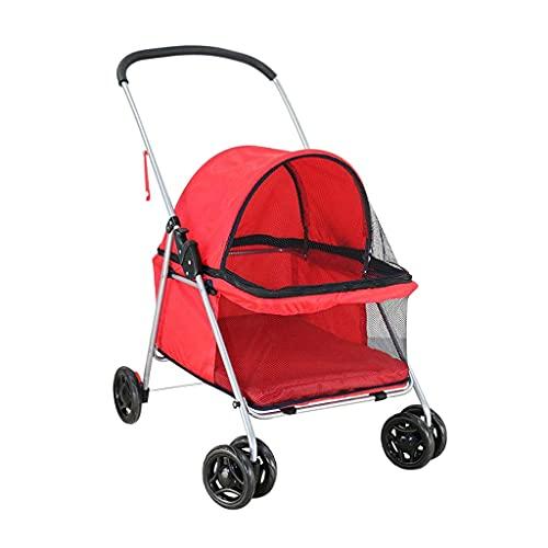 Auink Jogger Hundekinderwagen für kleine Hunde, Hundewagen Kinderwagen Buggy Premium Katzenwagen Faltbarer Gepäckträger Kinderwagen, Einfache Einhand-Faltung, Großer Platz