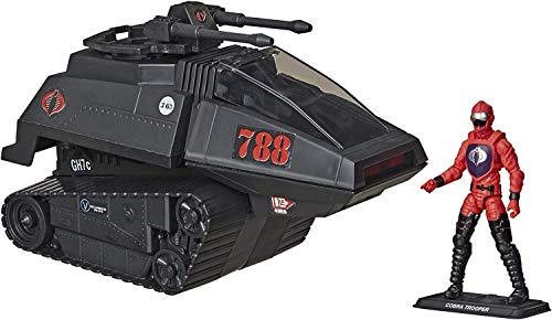 G.I. Joe Retro Cobra H.I.S.S. Tank Exclusive Vehicle with 3 3/4' Driver