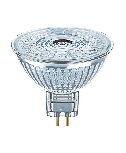 OSRAM MR16 LED Reflektorlampe mit GU5.3 Sockel, Kaltweiss (4000K), Glas Spot, 8W, Ersatz für 50W-Reflektorlampe, LED STAR MR16 12 V