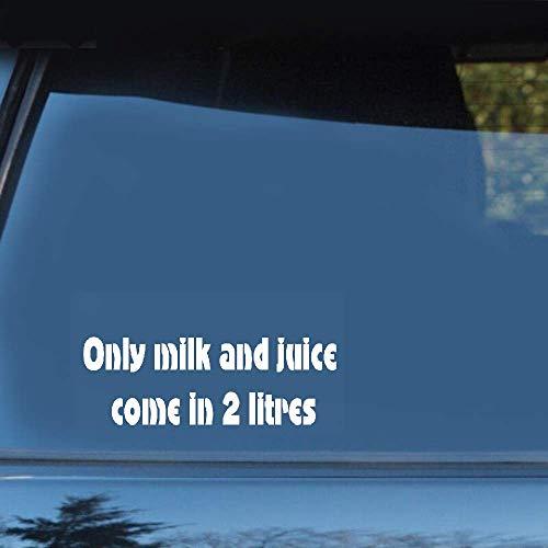 20 cm x 4 cm Alleen grappige melk en sap worden geleverd in 2,0 liter aftrekplaatje autosticker voor auto-laptop-raamsticker