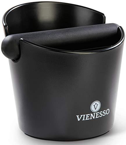 Hochwertige Abschlagbox von Vienesso mit abnehmbarer Abklopfstange – Espresso Abschlagbehälter für Kaffeesatz aus dem Siebträger, Abklopfbehälter, Knock Box + Barista E-Book! (12 cm)