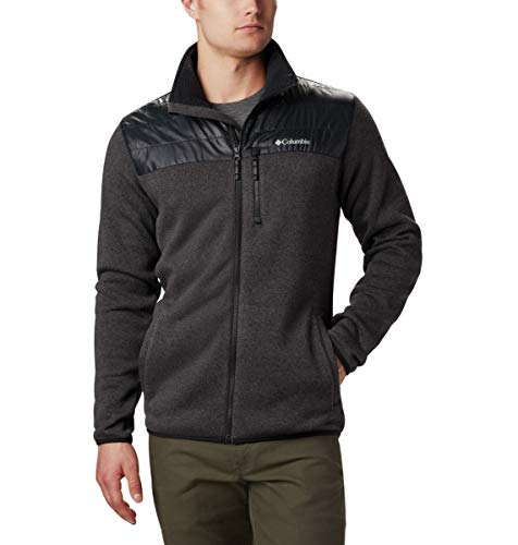 Columbia Men's Canyon Pt. Sweater Fleece Full Zip, Black, Large