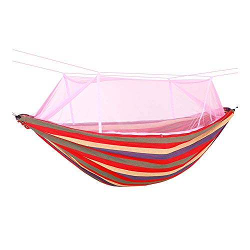 HUALI Outdoor Cotton Hammock,Adults Garden Swing Chair,Load Capacity Up To 200 Kg Portable,Carry Bag,For Patio Yard,Beach Patio,230Cm X 150 Cm,1 LIULI