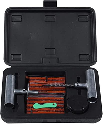 Kit de reparación de neumáticos de coche, furgoneta de coche, motocicleta, bicicleta, herramientas de reparación de neumáticos, kit de reparación de pinchazos de neumáticos sin cámara de servicio pesa