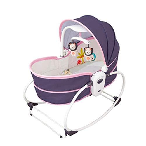 Yingeryaoyi Schommelspeelgoed voor baby's, elektrische cradle bed, schommelstoel, voor de baby, Can Out van The Travel Bed, muziekvibratie Comfort stoel zit en ligt schommelspeelgoed