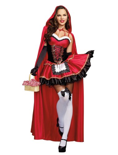 Dreamgirl Women's Little Red Riding Hood Costume, Large,