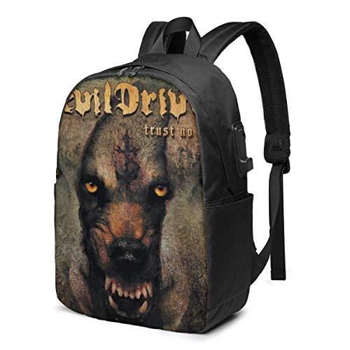 IUBBKI Devil Driver Business Travel Laptops Backpack,Unisex College Commuter Usb Backpack