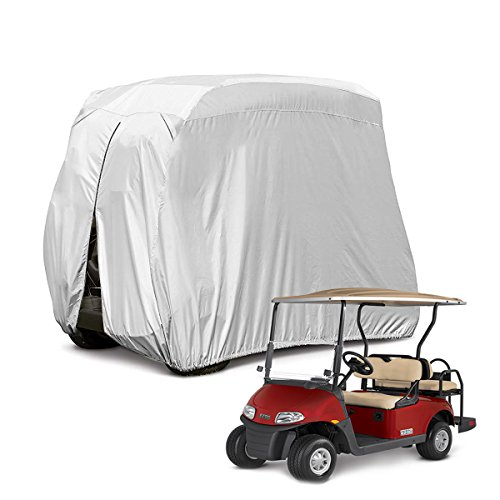 Himal 4 Passenger 400D Waterproof Sunproof Golf cart Cover roof 80' L, fits EZ GO, Club car and Yamaha, dustproof and Durable