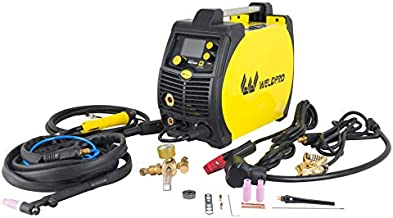 Weldpro 200 Amp LCD Inverter 5 in 1 Multi Process Welder Dual Voltage 240V/120V Mig/Flux Core/Tig/Stick/Aluminum Spool Gun capable welding machine with New Features
