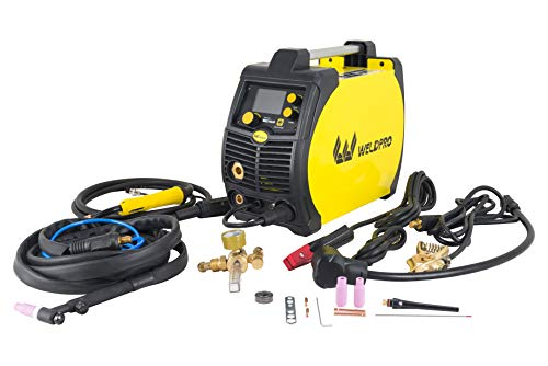 Weldpro 200 Amp LCD Inverter 5 in 1 Multi Process Welder 3 Year Warranty Dual Voltage 240V/120V Mig/Flux Core/Tig/Stick/Aluminum Spool Gun capable welding machine with New Features
