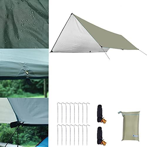 Toldo Camping, Toldo De Refugio Impermeable Tienda De CampañA 3M X 4M / 3M X 5M / 3M X 6M Con 16 Caracoles De Aluminio 16 Cuerdas Y Bolsa De Almacenamiento Para Sombrilla Para Acampar Al Aire Libre