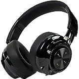 PowerLocus Bluetooth ヘッドホン/オーバーイヤー型ヘッドホン/最大40時間音楽再生/低音強化 有線 無線 ヘッドホン 密閉型 折りたたみ式 マイク付き (ブラック)