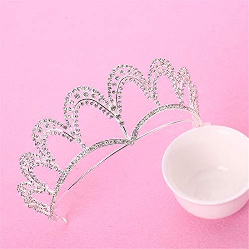 BERYLSHOP Diamantes de imitación Hecho a Mano Corona Tiara de la Boda Accesorios for el Cabello Accesorios de Vestir Joyas de Novia