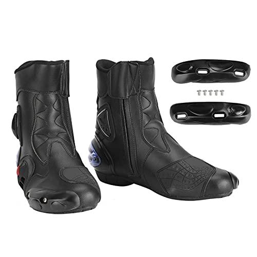Botas intermedias Botas de motocicleta elegantes Zapatos de motocross para mejorar la apariencia para un viaje cómodo(black, 45)