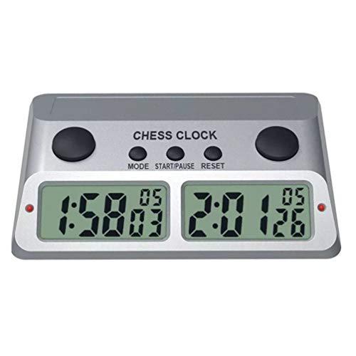 TOYANDONA Reloj de Ajedrez Digital Ajedrez Internacional Temporizador Digital Torneo Jugar Juegos de Mesa Temporizador Color Aleatorio sin Batería
