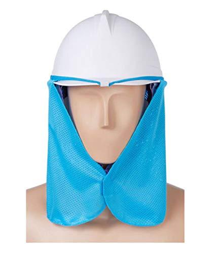 HANBIBI 安全帽、防止に付ける、暑い日を避ける、汗 ヘルメット取付用日除け、涼しい 日差し除け 熱中症対策 グッズ ヘルメット インナー 冷却 たれ 取付用 ハード帽子汗止め 安全性