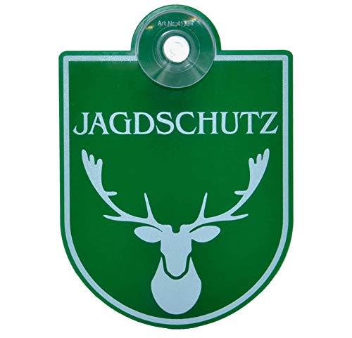 Saugnapfschild Schild Jagdschutz für Autoscheiben Befestigung 90x125mm