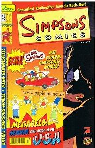 Simpsons Comics 43 , mit Sticker (Dino Bongo Comics Group) Mai 2000, Comic-Heft