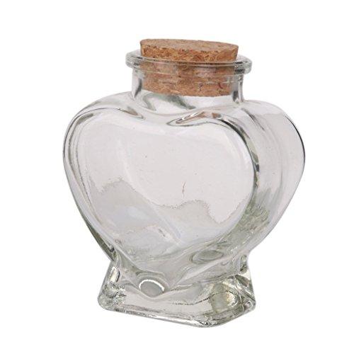 Romote Mini Corazón de Cristal del Favor de tarros recipientes de Almacenamiento de la Botella con el Corcho de