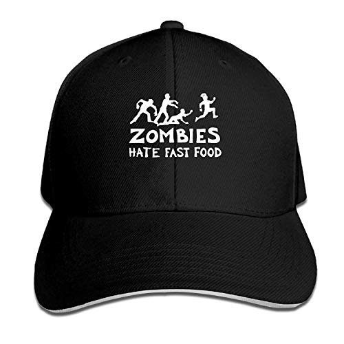Xcozu Baseball Cap-Zombies Snapback Hüte Sandwich Peak Cap