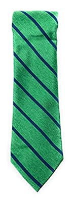 Perry Ellis Mens Green/Blue Stipe Necktie 3 1/4 Wide