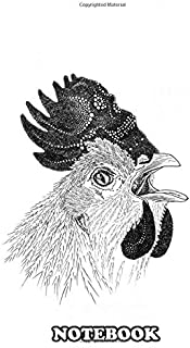 Notebook: Evil Chicken , Journal for Writing, College Ruled Size 6