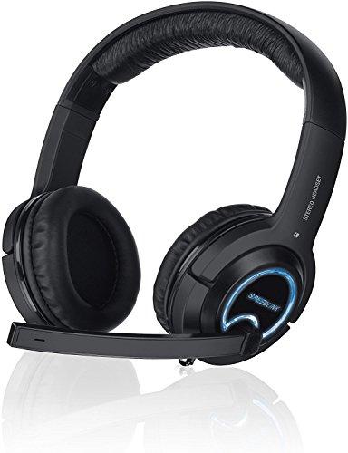 Speedlink by Fiducia B-Ware Gamer Kopfhörer für PC / Computer / Playsation 4 und 3 / Xbox - Xanthos Gaming Headset (3m Kabellänge - flexibler Bügel und weiche Polsterung)+ Speedlink TRAX Splitter