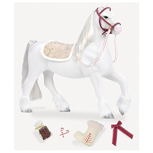 Our Generation by Battat- Holiday Clydesdale 20' Toy Horse- Doll, Clothes & Accessories for 18-inch Dolls- Ages 3 Years and Up
