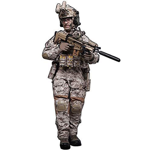 1/6 Modelo de soldados, 30 cm flexible del ejército de los Estados Unidos Armada Sellos Soldado Figura de Acción Modelo con Accesorios Figuras Militares Soldado Playset Escritorio Decoración
