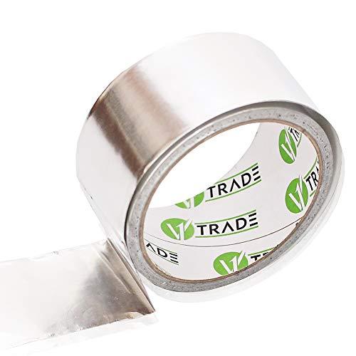 V1 Trade - Aluminium Klebeband, Selbstklebendes Aluminium Tape, Reperaturband Alu tape für Reparaturen - 1 Rolle (48 mm x 10 m)