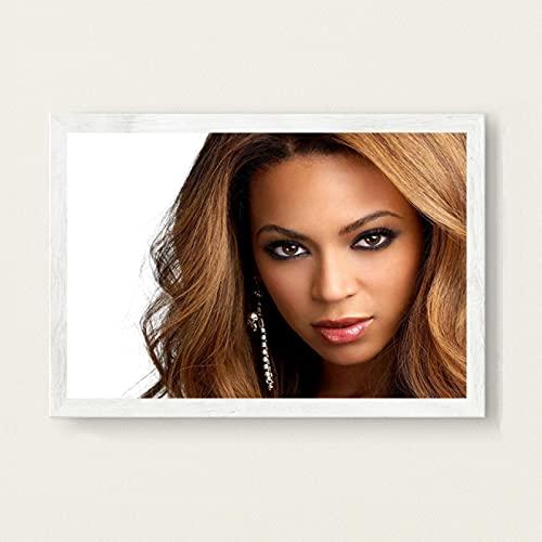 Beyonce Super Muziek Zanger Ster Zanger Nieuwe Canvas Poster Prints Foto Portret Foto Bar Hotel Cafe Wall Art Decor Muurschildering 50x70 cm (19.68x27.55 in) A-2775