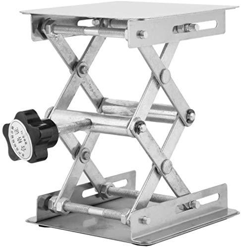 Plataforma elevadora de acero inoxidable soporte elevador de laboratorio estante tijeras laboratorio 100 x 100 mm / 3.9 x 3.9in