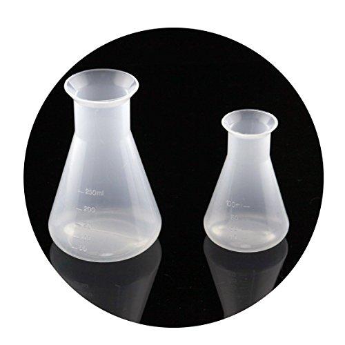 Owfeel - Set de 2matraces de Erlenmeyer (100ml y 250ml), plástico