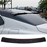 NINTE Roof Spoiler for 2018-2020 Toyota Camry, ABS Painted Gloss Black M Style Rear Window Top Wing