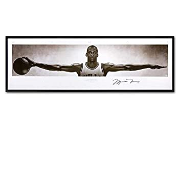 Karen Max Wall Art Canvas Pictures for Living Room Home Decor Michael Jordan Wings Autographed Poster Print Canvas Painting New Home Gifts Frameless