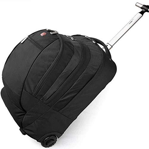 GQY Carro de los Viajes de Negocios Maleta Trolley de Mochilas de Moda polea Equipaje de Mano Bolsa de polea (Color : Black, Size : 50 * 35 * 28.5cm)