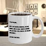 N\A Taza de café Anti Vegana Regalos para nutricionistas Anti Vegetarianos antiveganos Divertidos