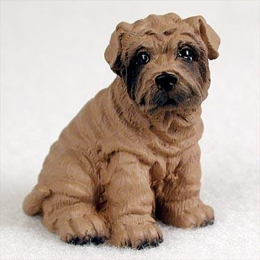 Shar Pei Perro en Miniatura figura decorativa–marrón