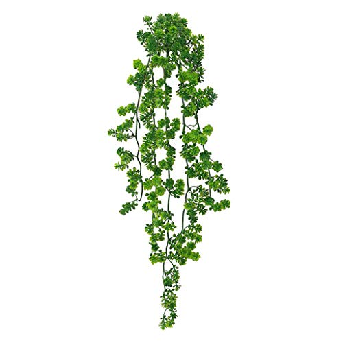 CUTICATE Artificial Vines with Leaves Fake Ivy Foliage Flowers Hanging Garland Tropical Home Party Wall Garden Wedding Decors Indoor Outdoor
