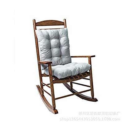 yadamse Rocking Chair Cushion Set?2 Piece Non-Slip Seat/Back Chair Cushion Indoor/Outdoor Soft Thickened Patio Chaise Lounger Cushion Overstuffed Patio Chair Cushion (Light Gray)