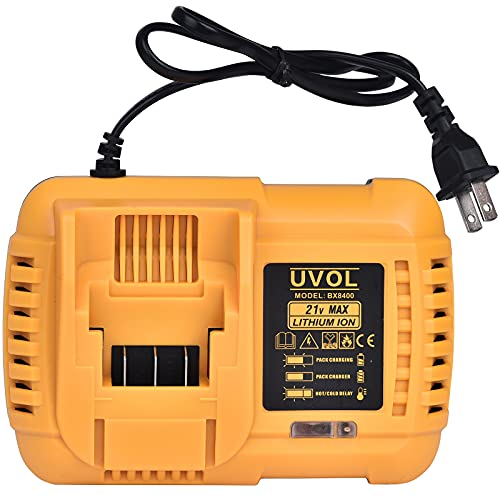 UVOL Fast Charger, Replacement for UVOL Impact Wrench BX8501 & Reciprocating Saw BX8400