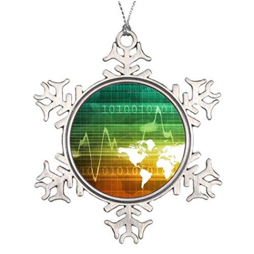 Cukudy Virtueel Zakelijk Platform Boom Kerstmis Decoratie Sneeuwvlok Ornamenten 2018 Kerstboom Hanging Present