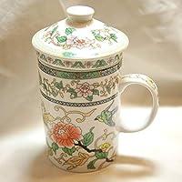 茶漉し付き マグカップ 牡丹