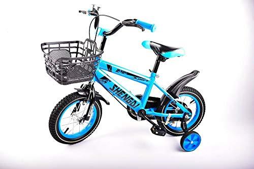 12 Zoll Kinderfahrrad mit Stützräder Kinderrad Fahrrad Spielrad in 2 versch. Farben Modell 86 (blau)