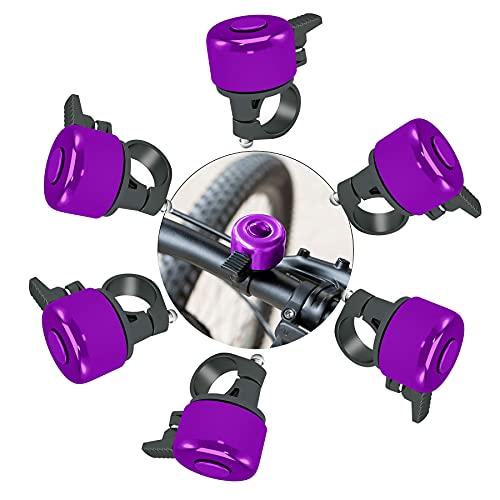 Shengruili 6 Stück Fahrradglocke,Q Bell,Mountainbike Alarm Horn,Fahrradglocke Radfahren,Fahrradklingel Laute,Fahrradklingel für Mountainbike Citybike E-Bike Roller Lenker
