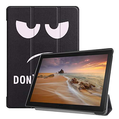 Lobwerk Tablet Hülle für Lenovo Tab E10 TB-X104F 10.1 Zoll Slim Hülle Etui mit Standfunktion & Auto Sleep/Wake Funktion Lila