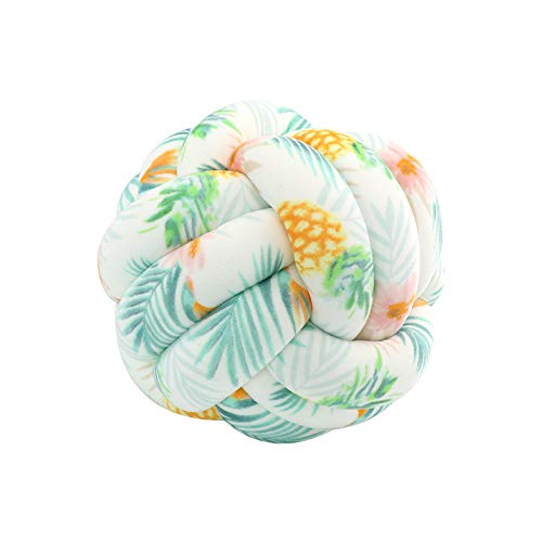 FLORAVOGUE Knot Pillow Decorative Cushion - Home Bed Room Couch Decor Office Sofa Decoration for Modern Home Size 11' 11' (Pineapple)
